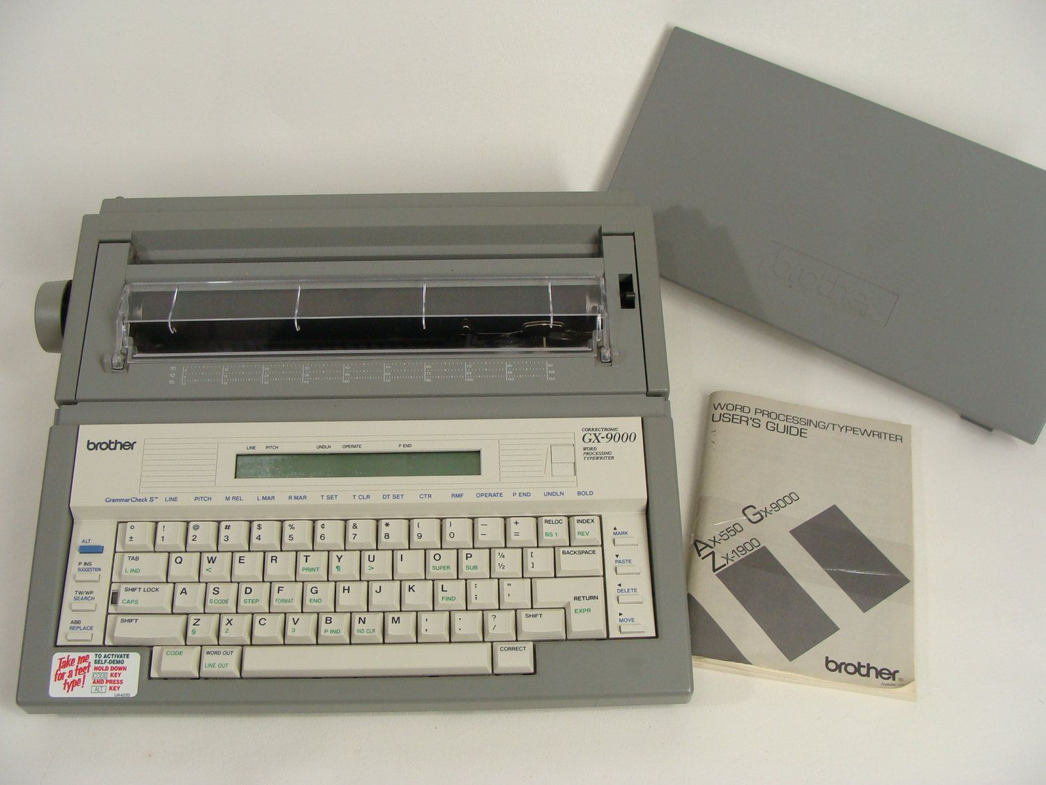 vintage brother gx 9000 correctronic word processing electric rh pinterest co uk brother ax-15 electronic typewriter manual brother ax 100 electronic typewriter manual