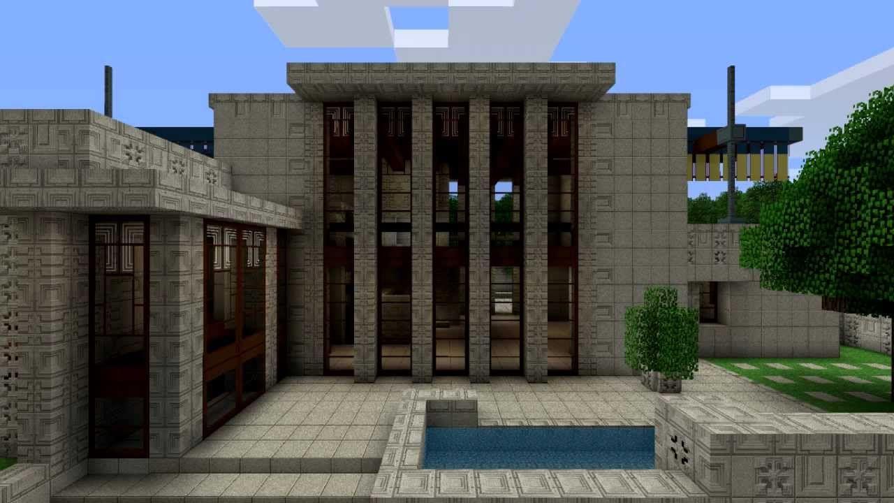 Minecraft Storer House Youtube Ennis House House House Styles