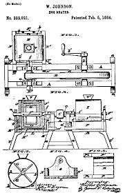 A patent was issued on February 5th in 1884 for a new