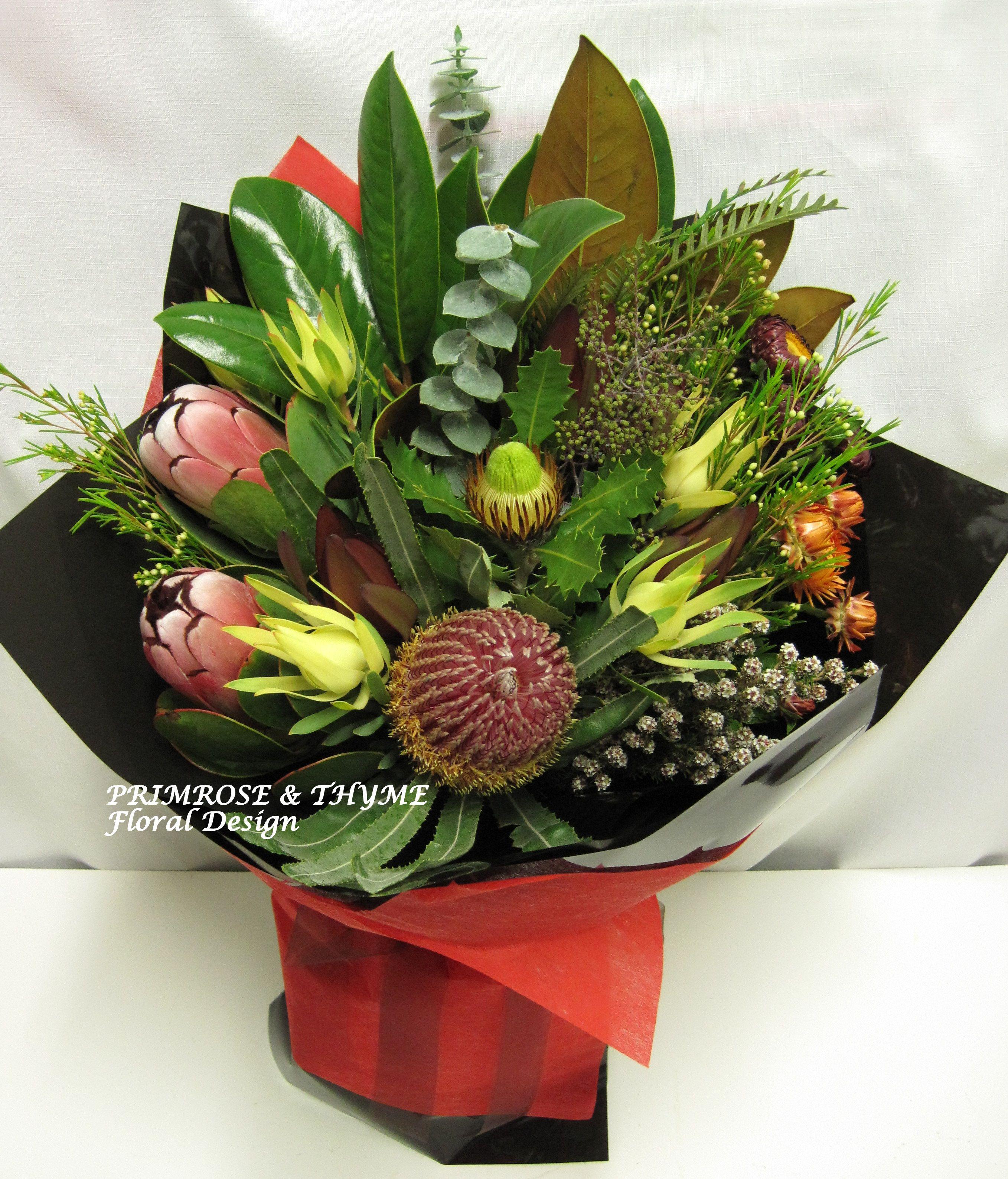 An organic australian native flower arrangement for a unique special a rustic australian native flower bunch for your unique loved ones izmirmasajfo Images