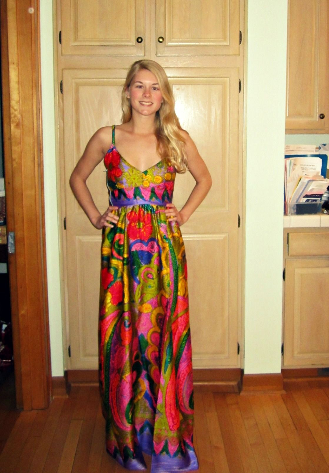 Crazy Pattern Maxi Dress!