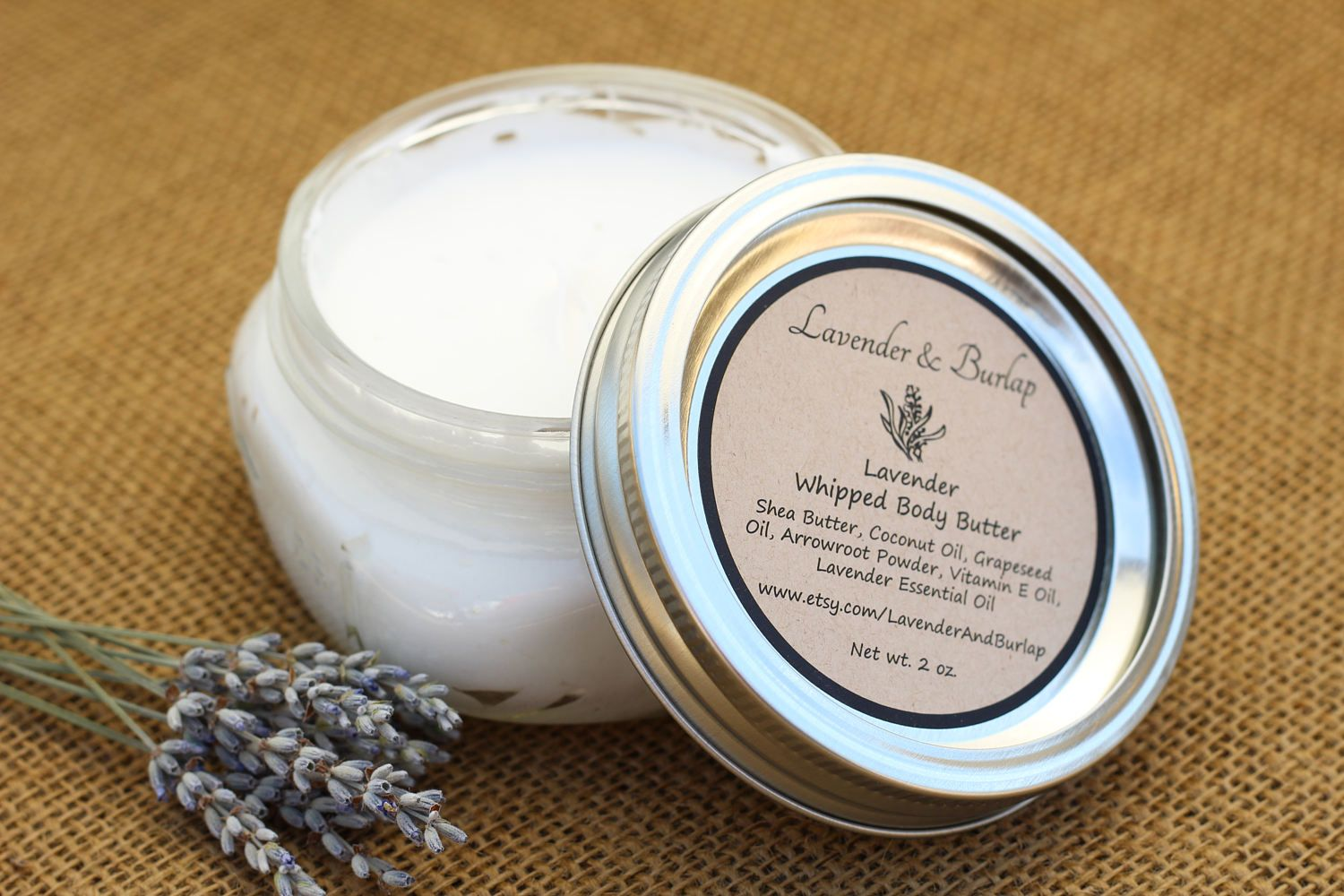 Lavender whipped body butter by lavenderandburlap on etsy