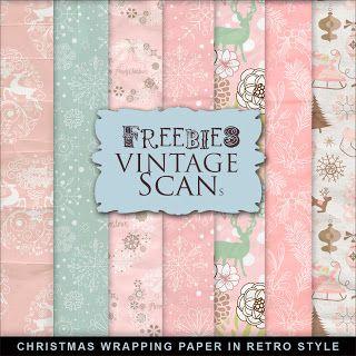 Far Far Hill Freebies Christmas Wrapping Paper In Retro Style Vintage Christmas Wrapping Paper Christmas Paper Digital Paper Freebie