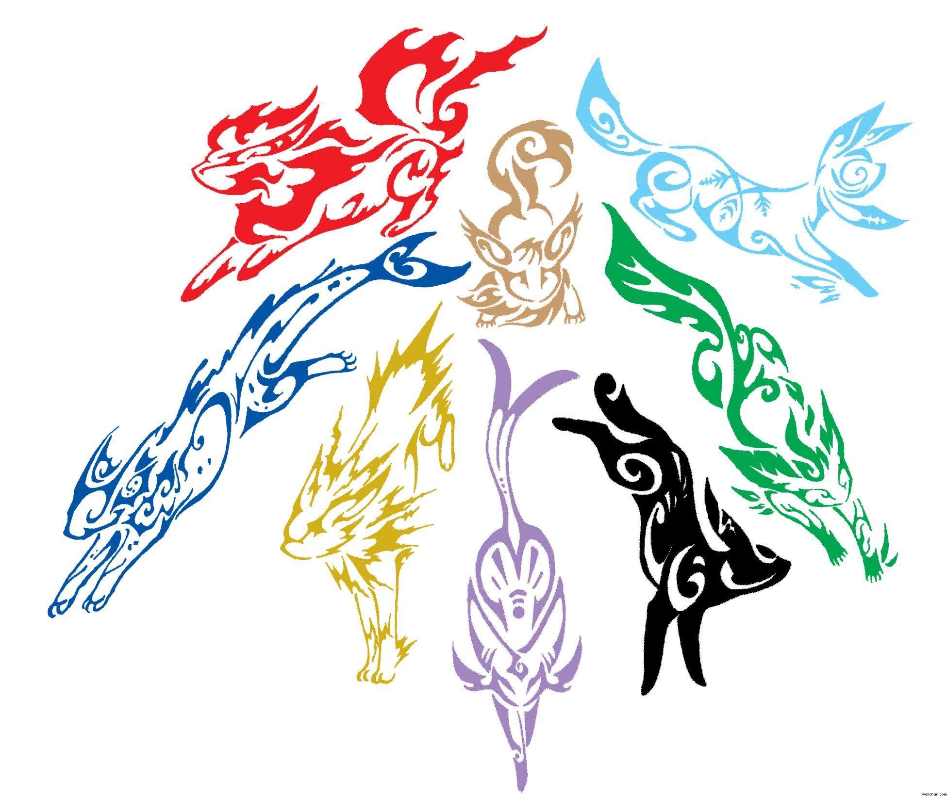 Tribal eeveelution pokemon tattoo