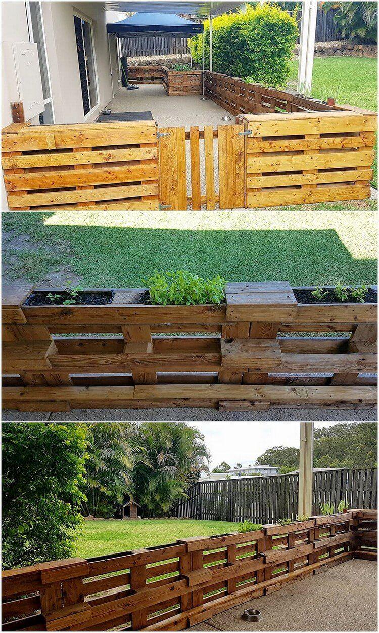 Ausgezeichnete Ideen, um gebrauchte Holzpaletten zu recyceln - Dekoration ideen #zaunideen