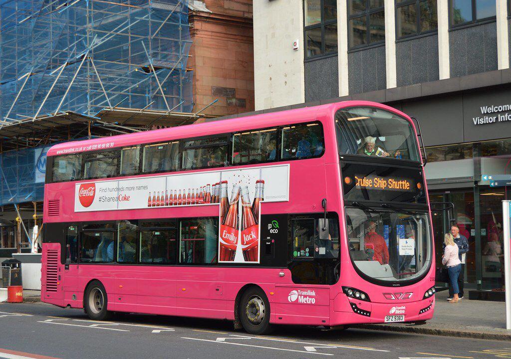 Metro 2383 in 2020 Belfast city, Belfast city centre