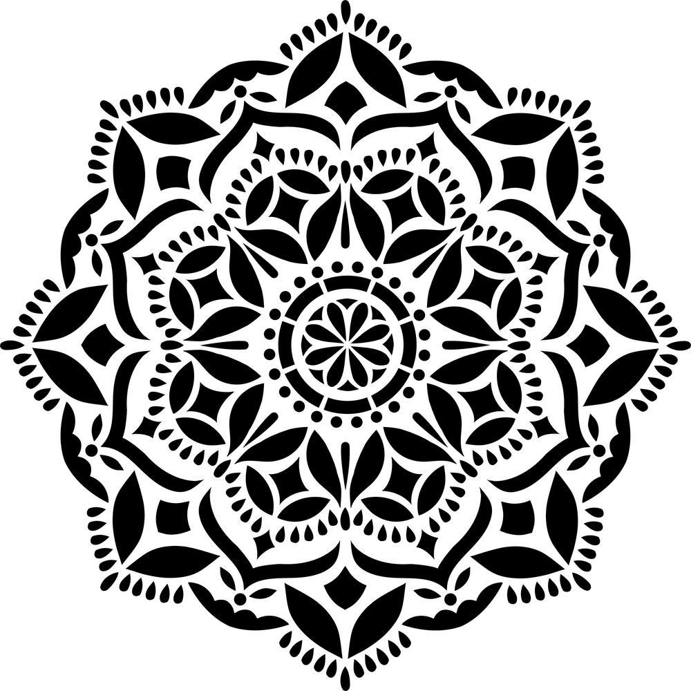 Designer Stencils Karma Mandala Stencil