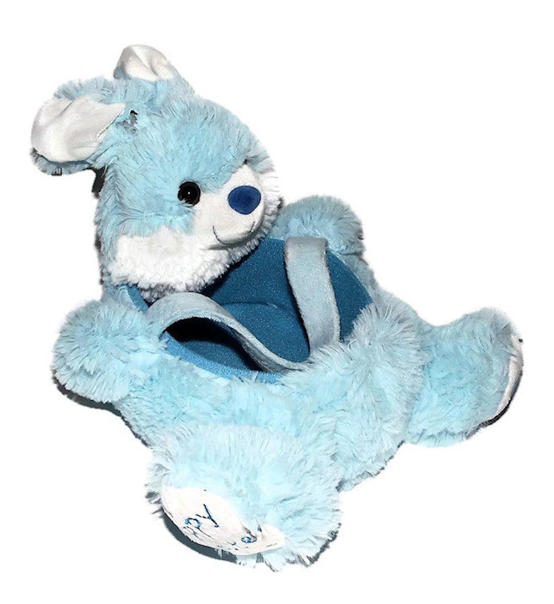Amazon Com Plush Blue Bunny Easter Basket Toys Games Blue