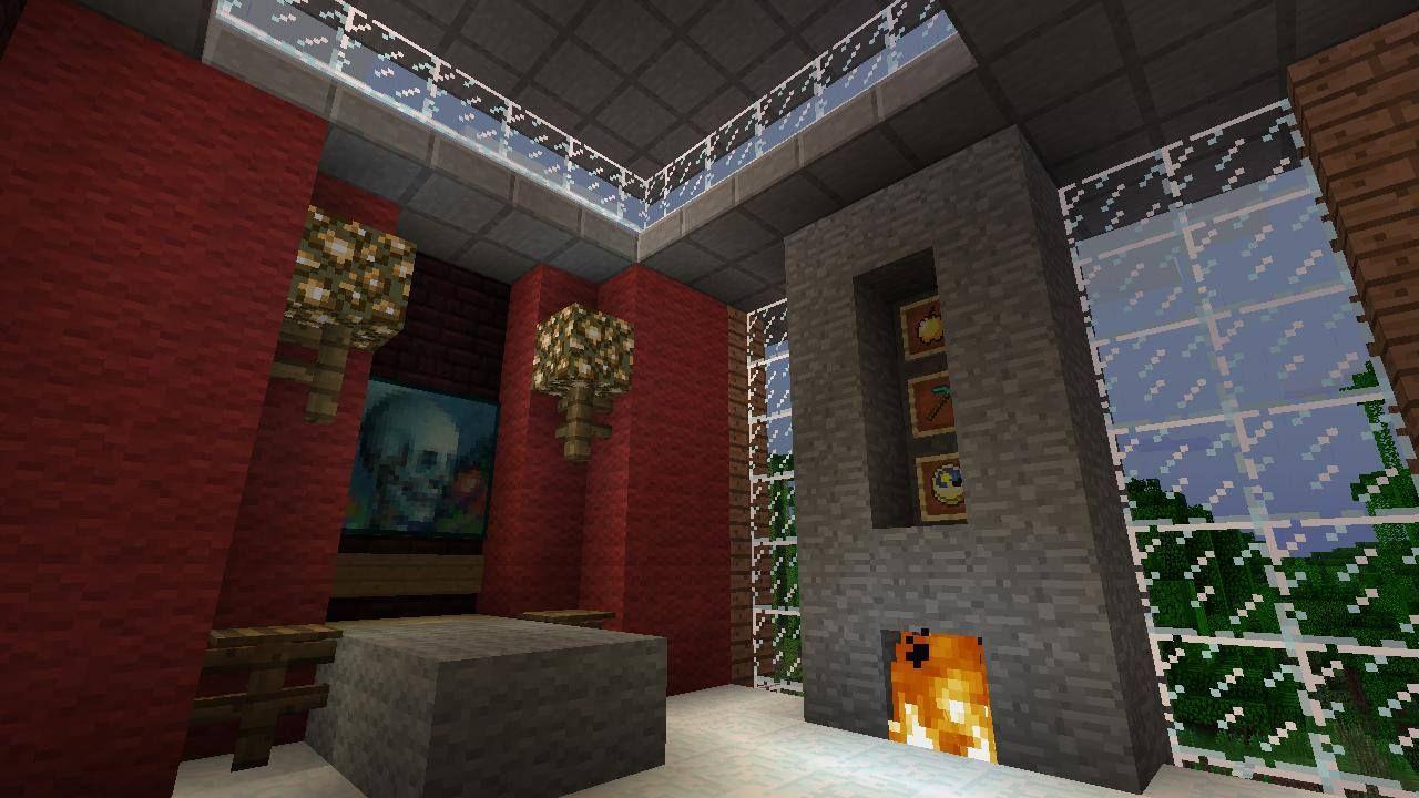 Modern MineCraft House Design Jungle house second floor bedroom