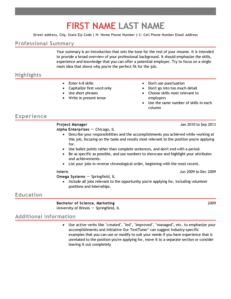 1 Job Resume template free, Job resume template, Job