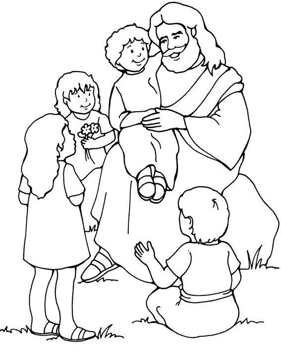 Gambar Mewarnai Anak Sekolah Minggu Mewarnai Jesus Para Colorear