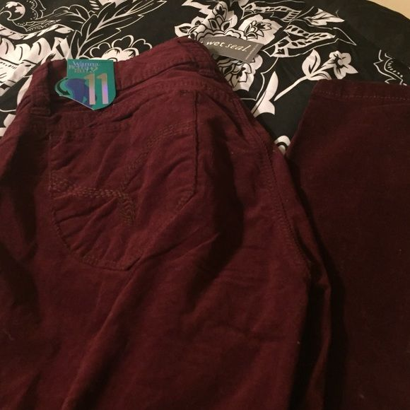 Corduroy skinny jeans size 11 Corduroy jeans size 11 from wetseal brand new! With tags! Wet Seal Jeans Skinny