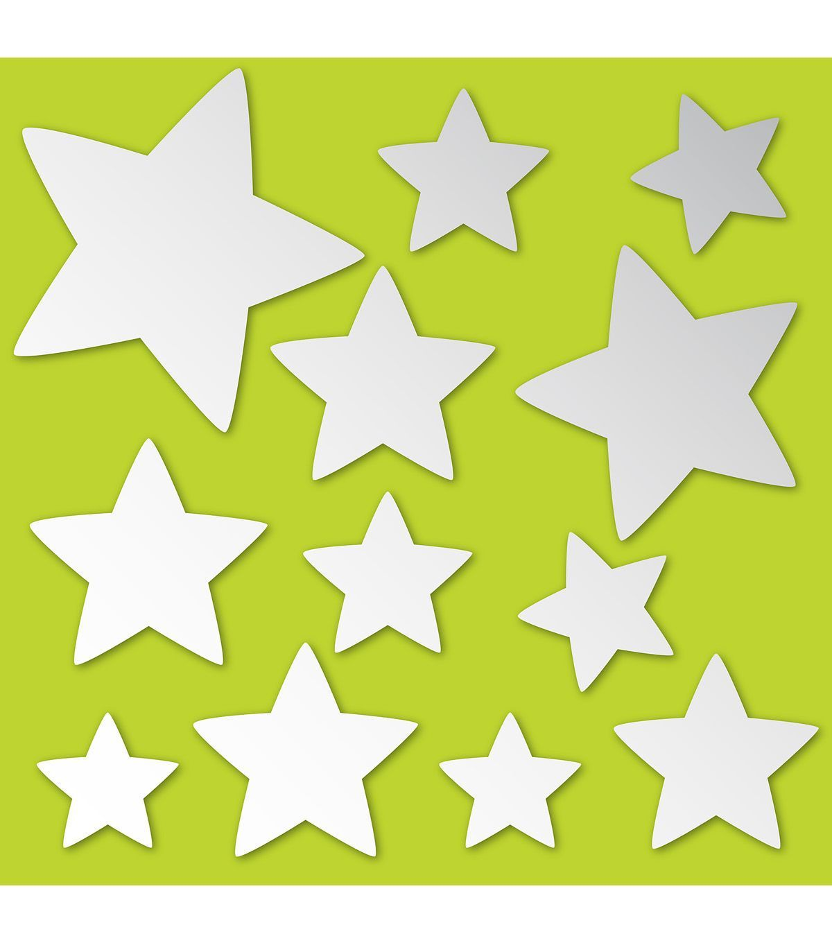 Wall Pops Stars Peel and Stick Mirror Art, 12 Piece Set | Products ...
