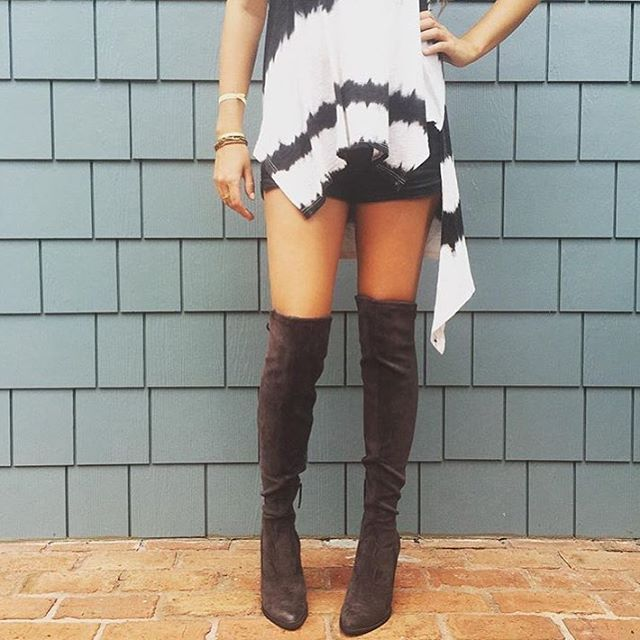 Last Call!! Only 1 pair of these amazing OTK boots left! Size 7.5 for $200! Comment email for invoice. #shophemline #overthekneeboots #yesplease 🙋