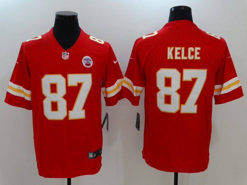 hot sale online ce461 22f73 Men NFL Kansas City Chiefs 87 Kelce Red Nike Vapor ...