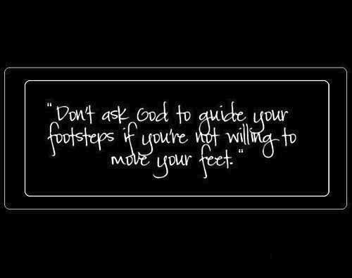 move your feet...