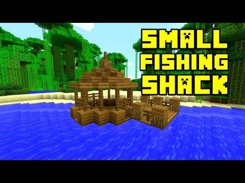 Minecraft how to build a fishing shack small survival for Survival fishing games