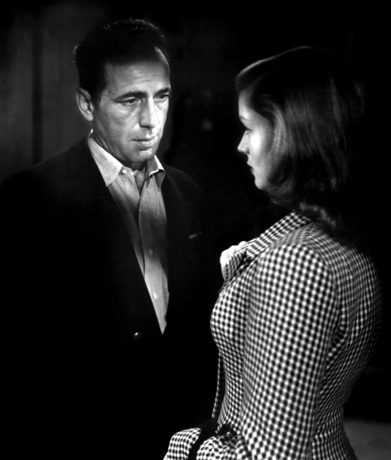 """Humphrey Bogart y Lauren Bacall en """"Cayo Largo"""", 1948"""