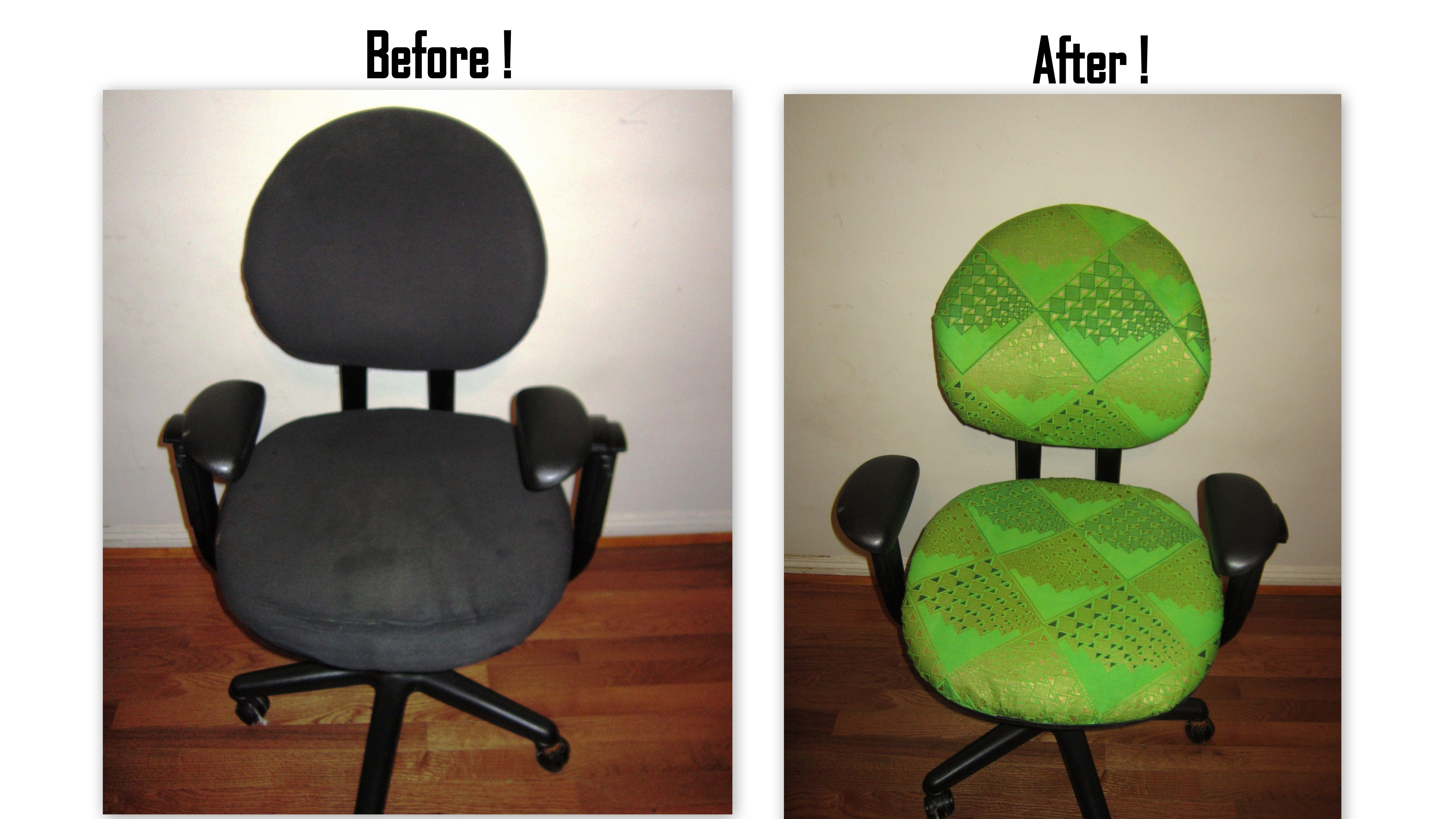 Re Upholstered Office chair ....Done by Jahfya!