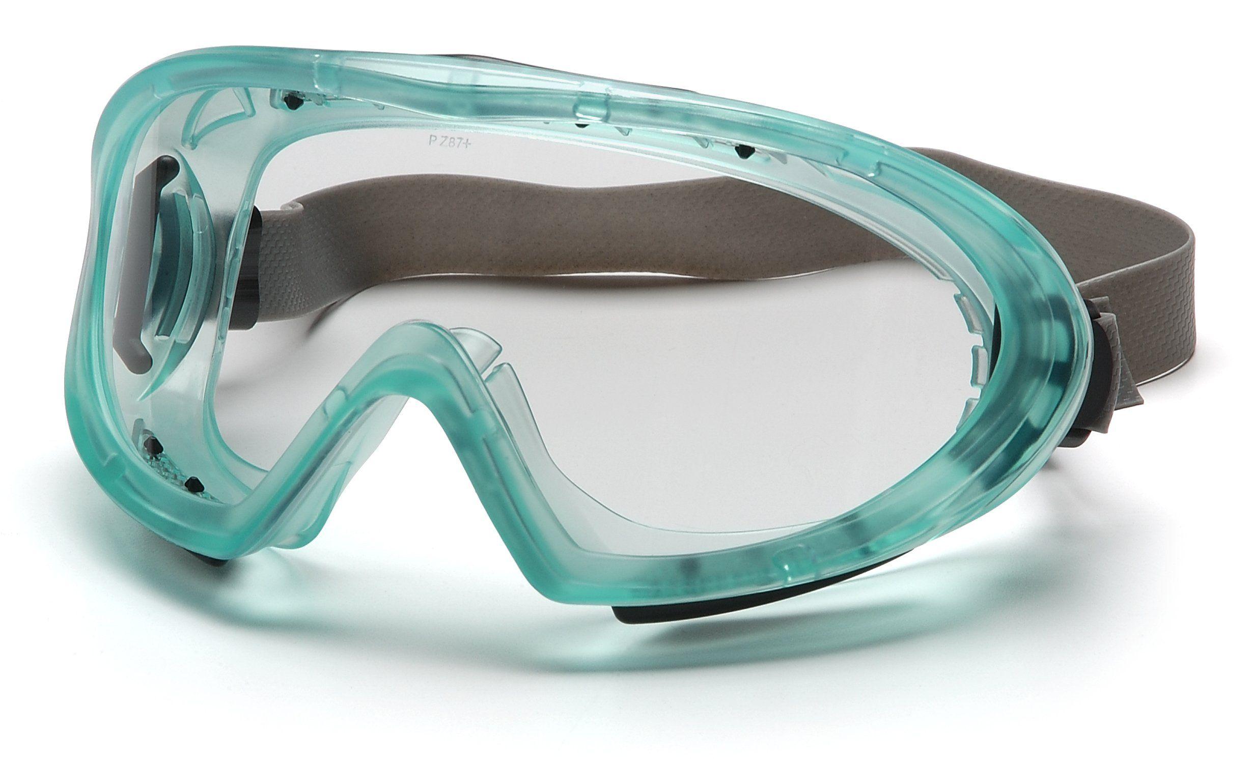 Pyramex Capstone Chemical Green Direct/Indirect Goggle