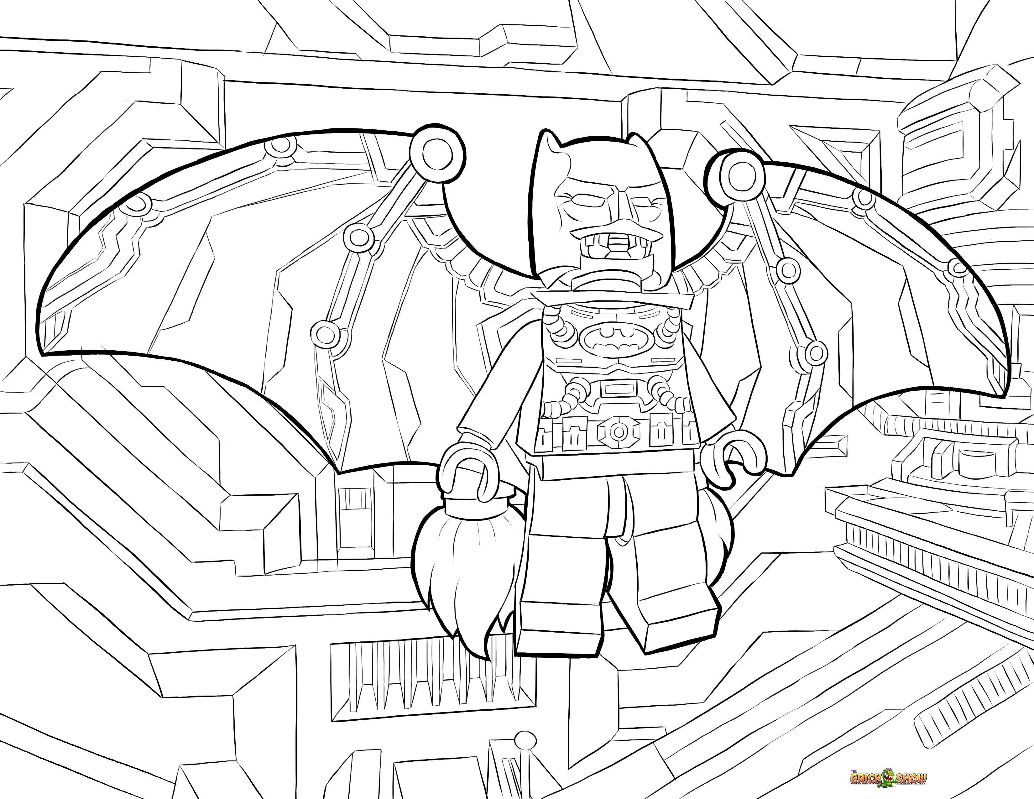 Lego Batman Coloring Page 7 3300—2550