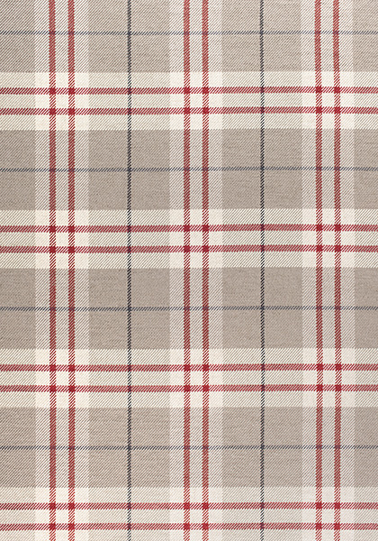 W80084 PERCIVAL PLAID Woven Fabrics Camel and Red from the Thibaut Woven 9: Stripes/Plaids collection
