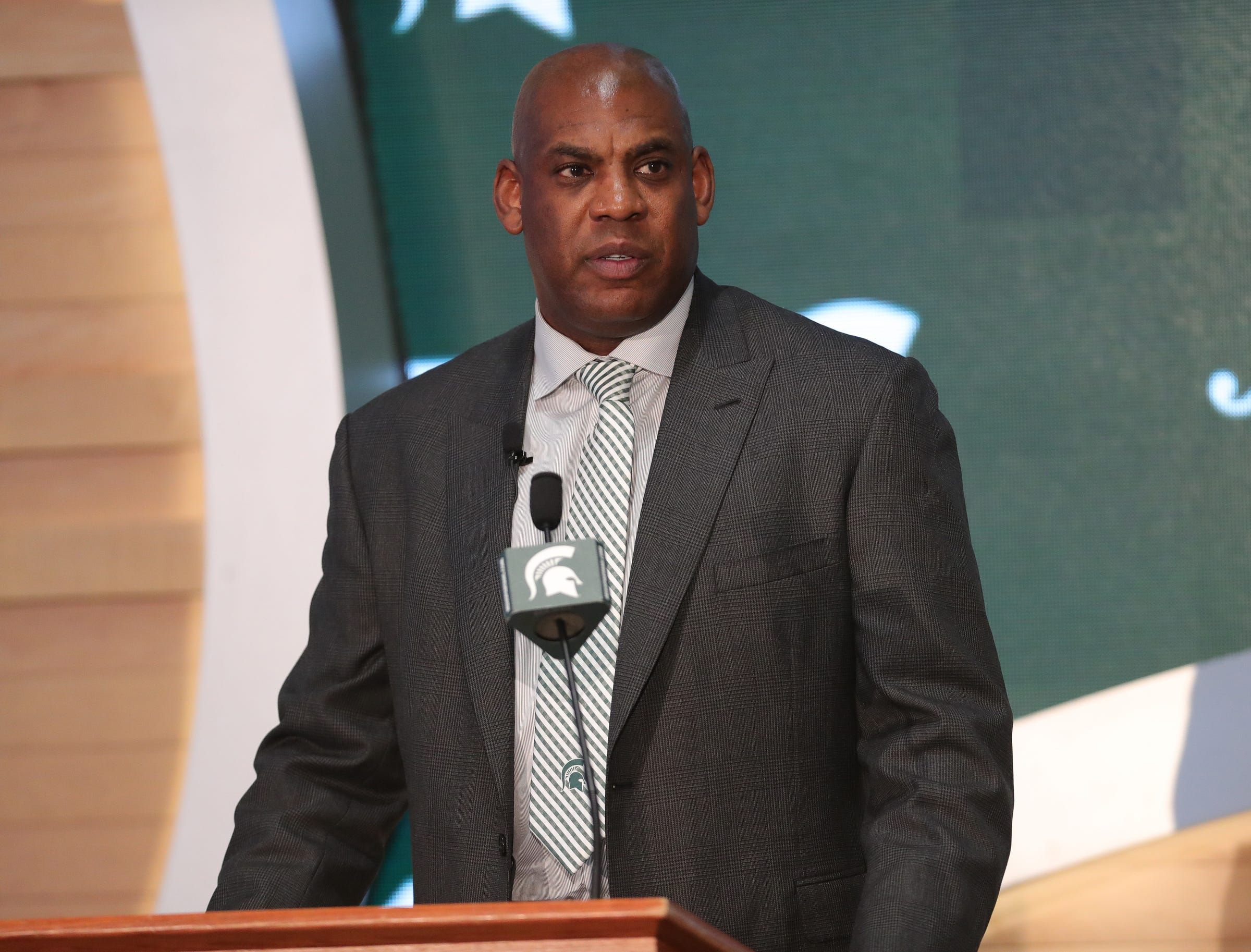 Mel Tucker Welcomed By Michigan State Football This Is The Right Time For Me To Be Here In 2020 Michigan State Football Football Coach Michigan State Spartans Football