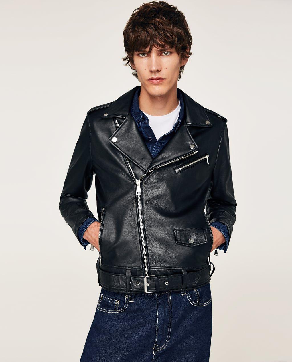 Image 1 of LEATHER JACKET from Zara Leather jacket men
