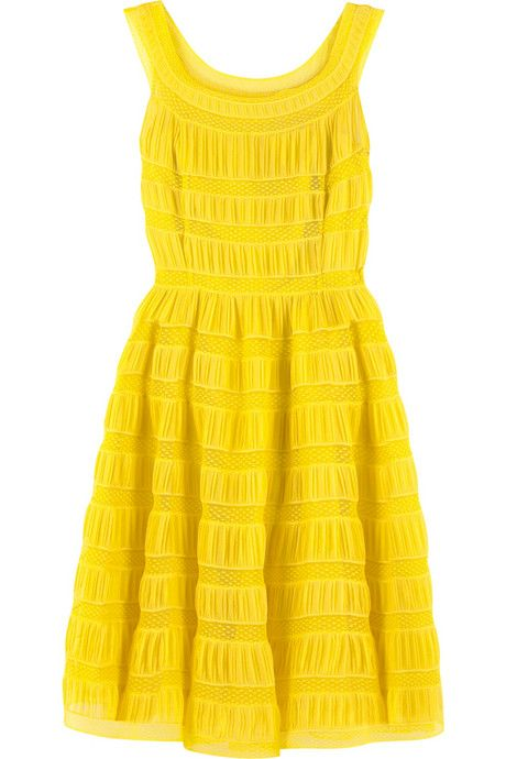 I need this dress! Not want...need. Juicy Couture yellow lace silk sleeveless dress