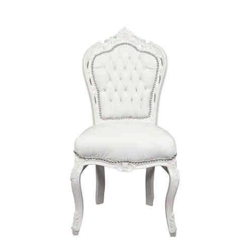 White Baroque Chair In White Pvc Baroque Furniture Baroque Chair Chair Baroque Furniture