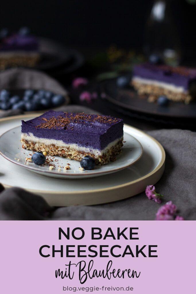 No Bake Cheesecake Mit Blaubeeren Vegan Glutenfrei Laktosefreie Desserts Laktosefreie Rezepte Veganer Kuchen