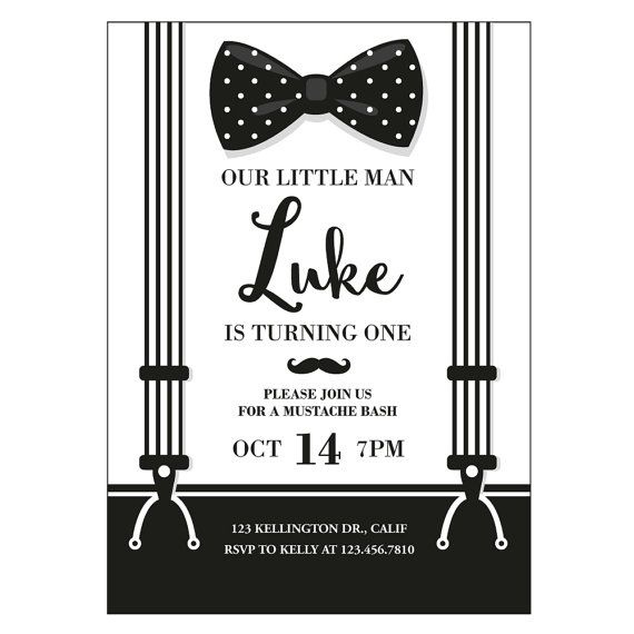Mustache Invite Mustache Invitation Mustache Party Little Man