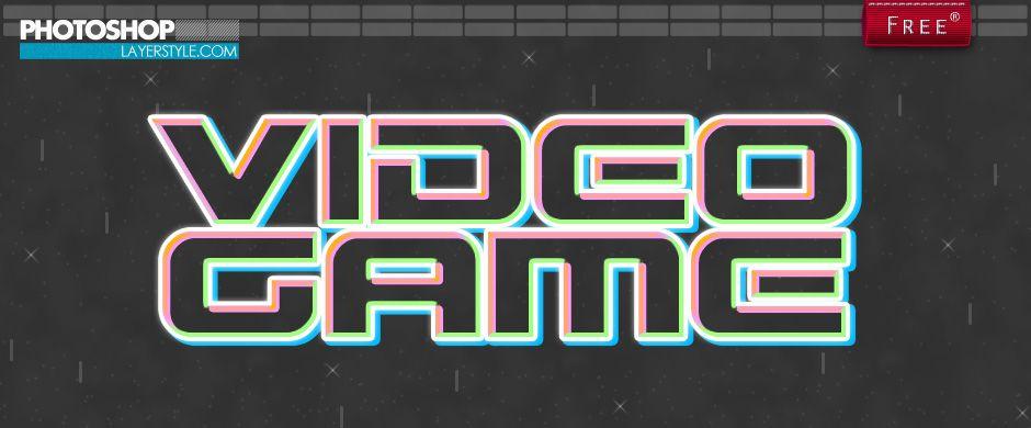 Free Retro Video Game Style | Photoshoplayerstyle | Free Photshop