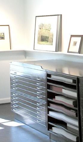 Beautiful storage for all my drawings... AND a drafting table... all in ONE?? YES!!!