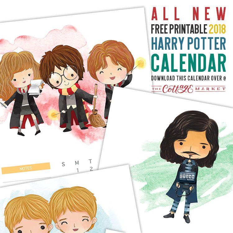 Free 2018 Harry Potter Character Calendar My Fandoms Harry