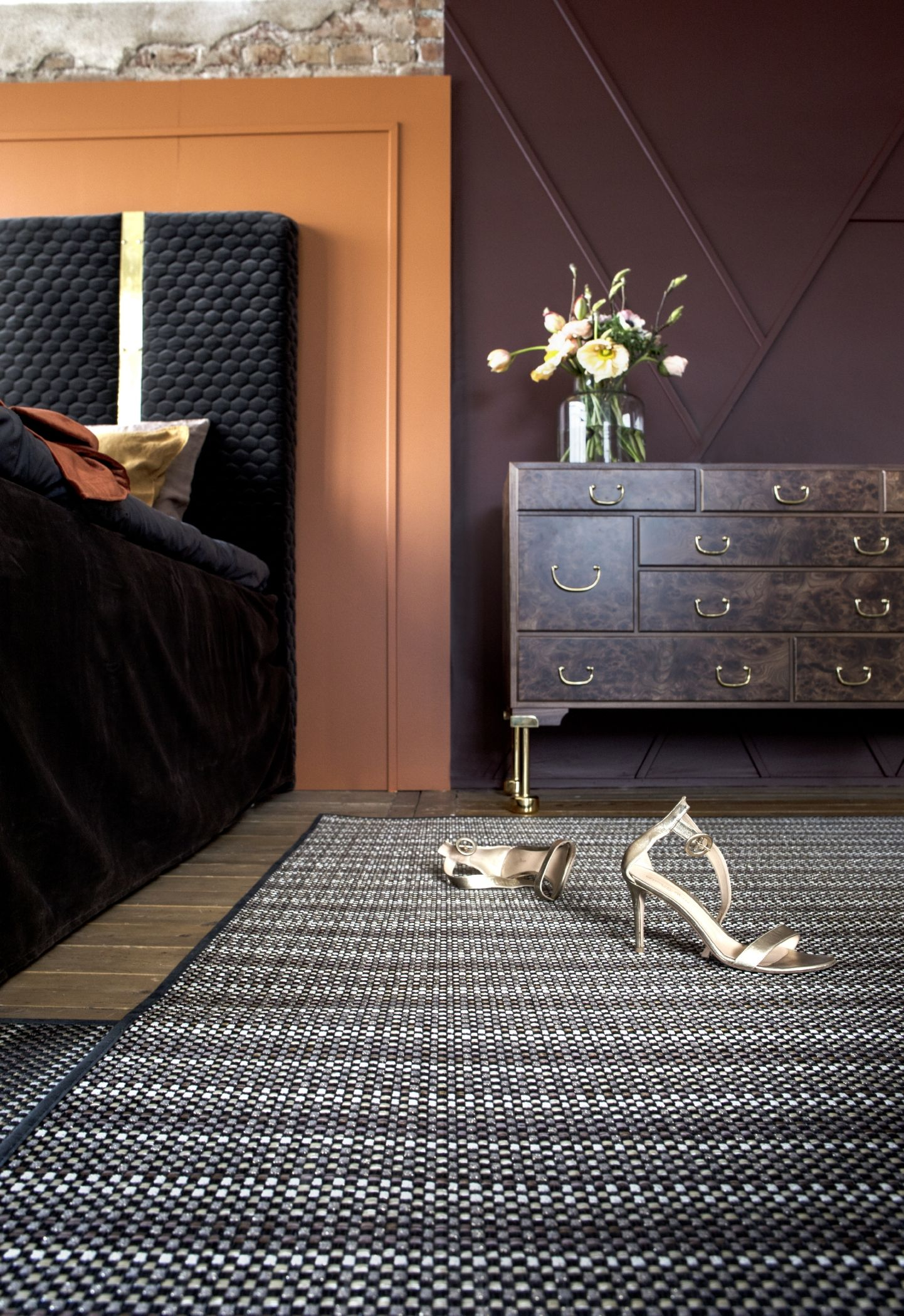 Bolon Flooring Soft Rug Collection Villa La Madonna Pee Rust