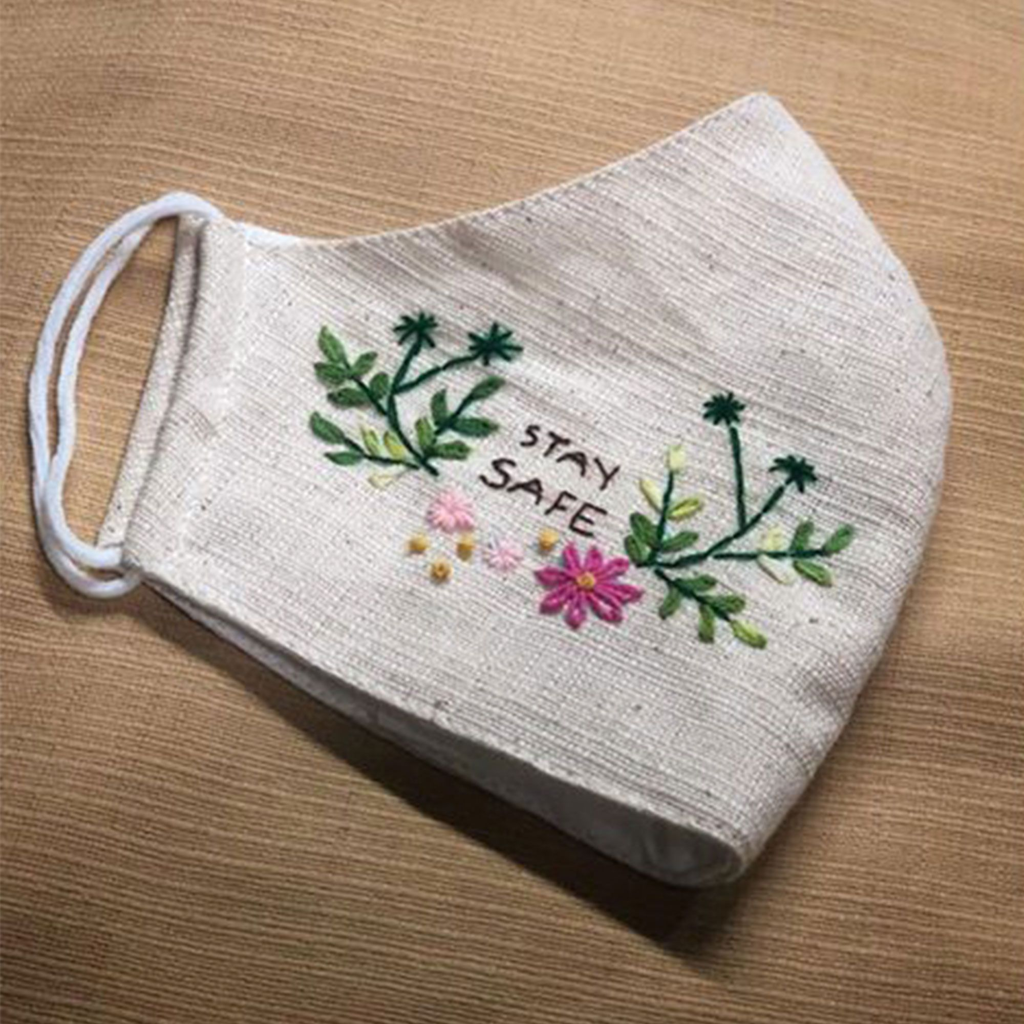 Hand Embroidery Cotton Fabric Face mask.Handmade by Thai ...