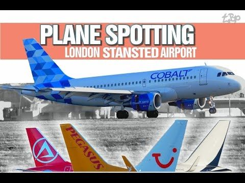 London Stansted Airport Plane Spotting Atlas Global Tui Cobalt Funair London Stansted Airport Boeing Airbus