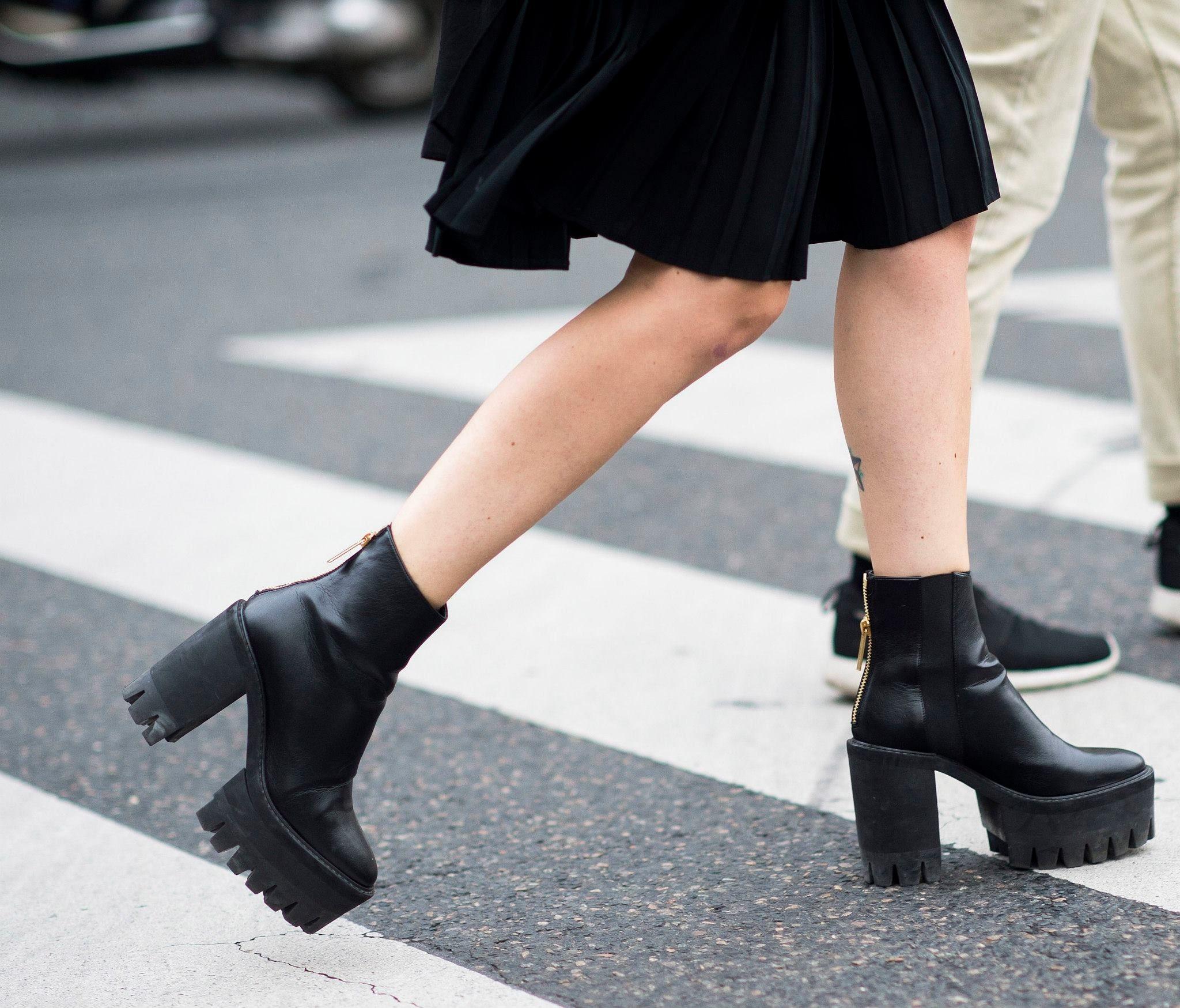 Platform boots outfit