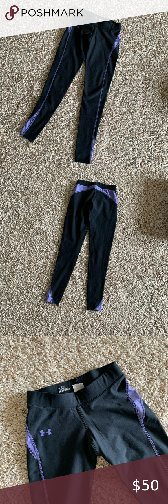 Photo of Under Armour Black Cold Gear Pant Leggings Size M Moved to Texas and selling the…