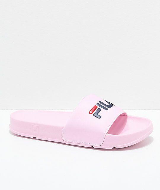 FILA Womens Drifter Pink, Navy \u0026 Red