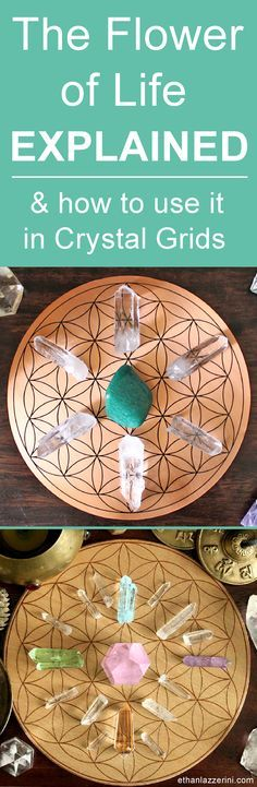 Flower Of Life Crystal Grid Meaning - Free Crystal Grid Template