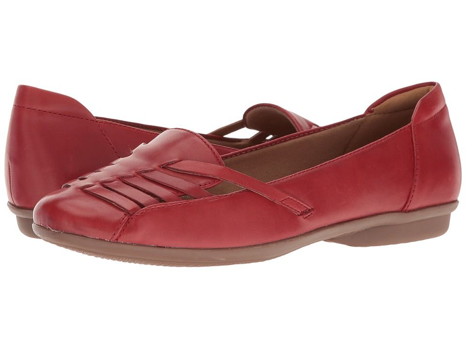 5a50cc82 CLARKS CLARKS - GRACELIN GEMMA (RED LEATHER) WOMEN'S SHOES. #clarks ...