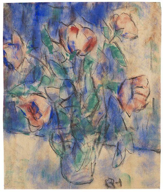 Christian Rohlfs - Rote Blumen in einer Vase