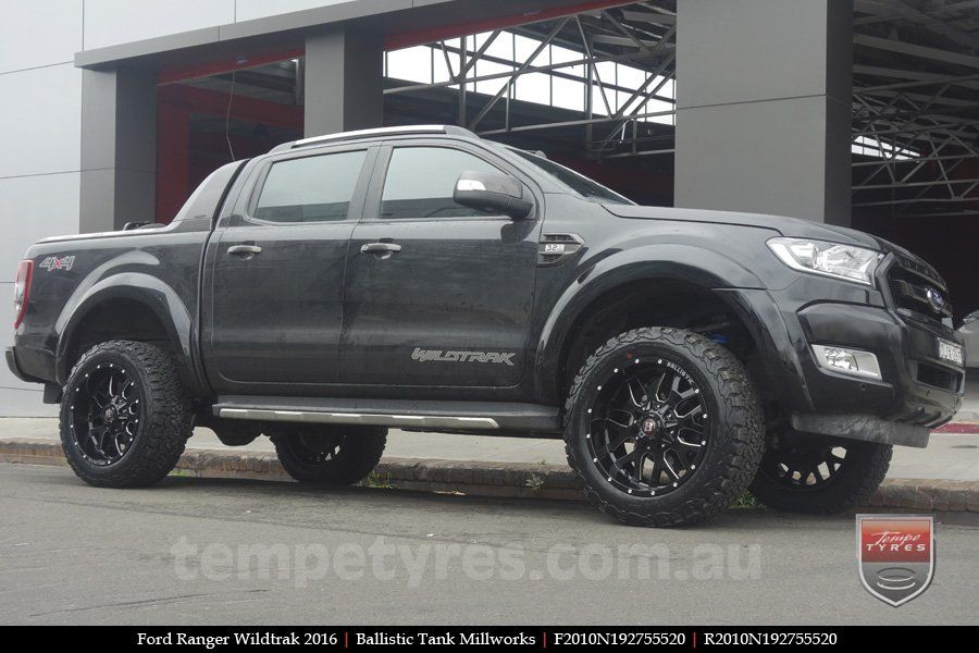 20x10 Ballistic Tank Millworks On Ford Ranger Wildtrak Ford