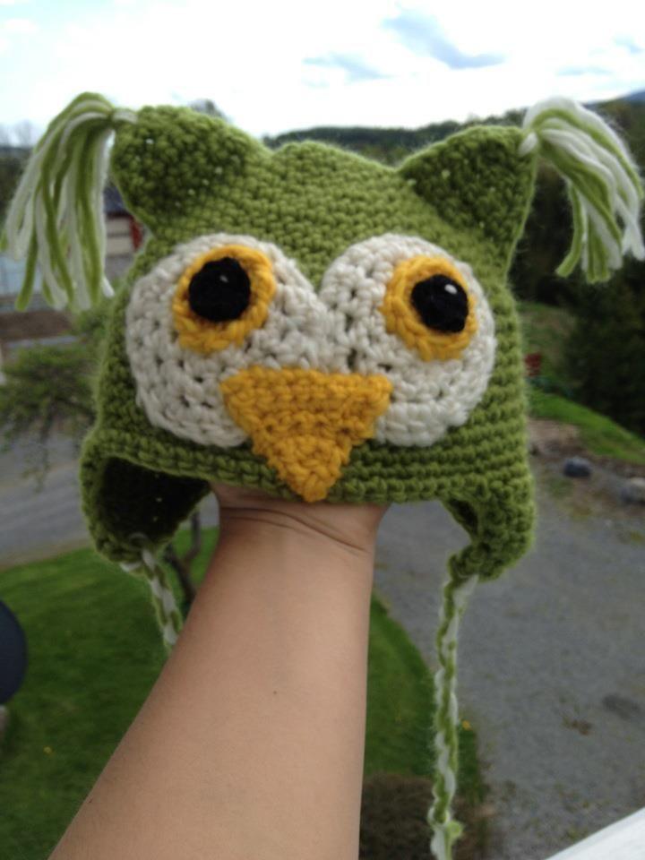 Crochet Owl-hat :D