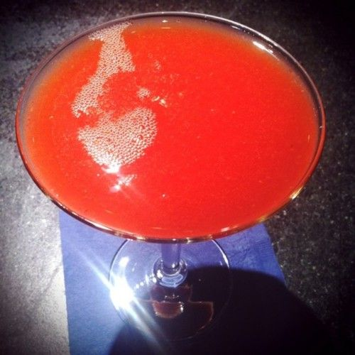 Strawberry-Rhubarb Margarita taken at Frontera Grill & Topolobampo