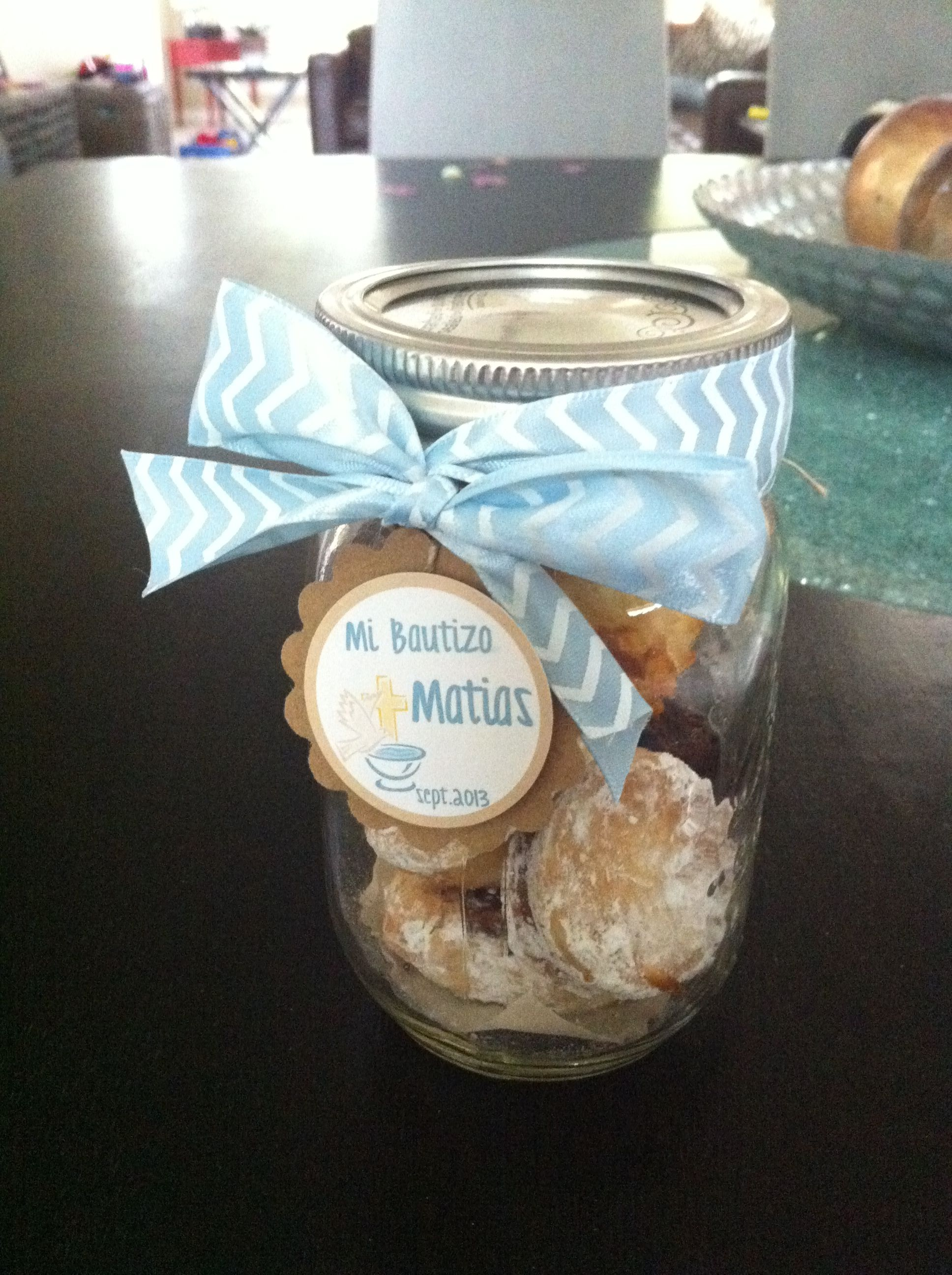 Pin By Melizza Walter On Crafts Baptism Favors Christening Favors Mason Jars