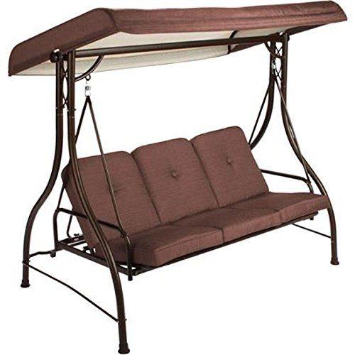 Amazon.com : Mainstays Lawson Ridge Converting Outdoor Swing/Hammock,  Brown, Seats - Amazon.com : Mainstays Lawson Ridge Converting Outdoor Swing