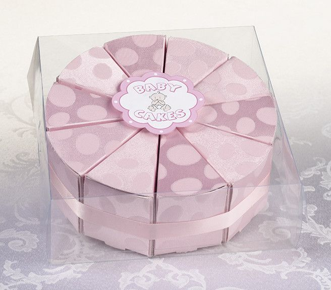 Lillian Rose 24FA110 P Set/10 Baby Cakes Favors-Pink